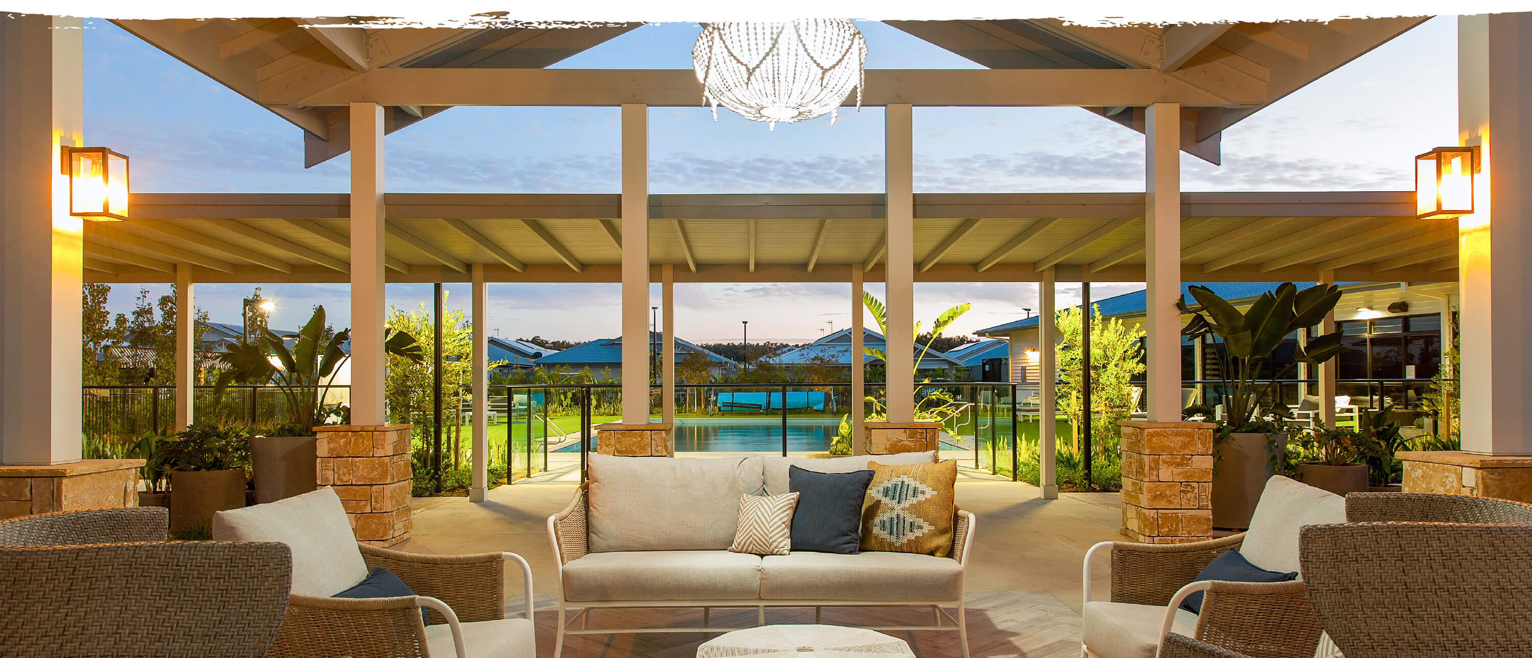 port cochere area at Latitude One in Port Stephens