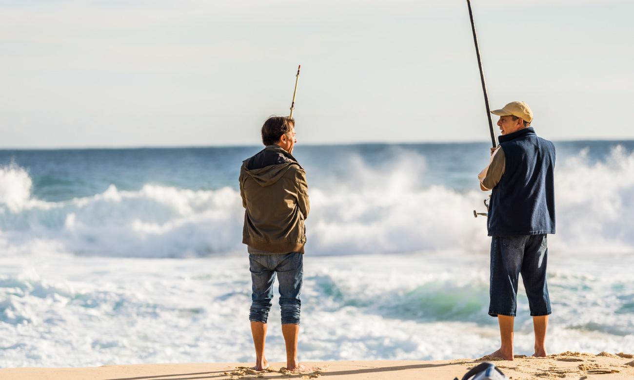 fishing at the beach nearby